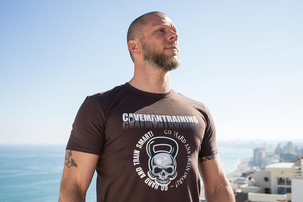 kolorowa męska koszulka z nadrukiem